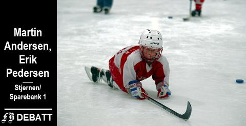 – Vår erfaring er at for å kjenne på mestringsfølelse og skiglede, spiller pris, modell og design liten rolle, heter det i innlegget. Bilde fra Stjernens ishockeyskole.