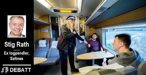Ida Wroldsen tilhører yrkesgruppen som ifølge Rath er bedre egnet til å styre norske jernbaneselskap enn direktørene. I en reportasje i FB for ett år siden fortalte hun om godt forhold til tålmodige pendlere.
