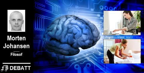 – Kunstig intelligens kan gjøre kontorjobber overflødig, mens det kan bli flere jobber som handler om å utføre tjenester for private med penger, mener kronikkforfatter Morten Johansen.