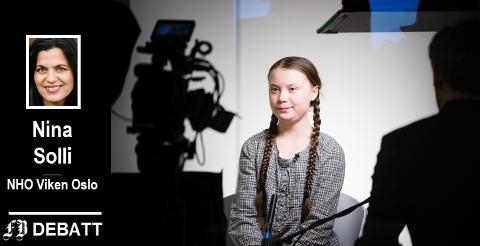– Klimaendringene krever en storstilt innsats, og bedriftene vil og kan gå foran, skriver Nina Solli, etter først å ha slått fast at Greta Thunberg satte klima på dagsorden i året som gikk.