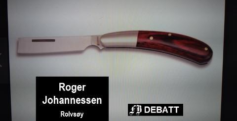 En kniv uten spiss kan brukes til andre ting enn å skade andre, mener Roger Johannessen.