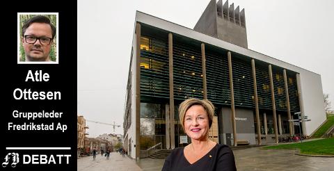 – Vi lytter heller til kommunens økonomifaglige kompetanse fremfor Høyres løsninger, skriver Ottesen. På bildet rådmann Nina Tangnæs Grønvold som er øverste ansvarlige for de råd partiet lytter til.