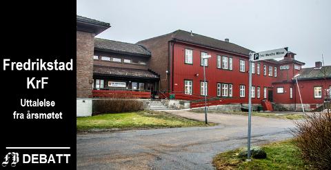 Fredrikstad KrF ønsker fortsatt drift av Emil Mørchs minne (bildet) og Torsnes sykehjem, og mener Arena Fredrikstad vil gå på bekostning av sykehjem i Fredrikstad.