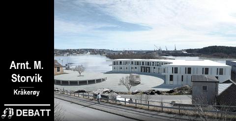 Slik ønsker Sleipner å brygge på Gressvik. Status for saken er at planutvalget har vedtatt å sende forslag til detaljregulering ut på høring. Skisse: Aart arkitekter