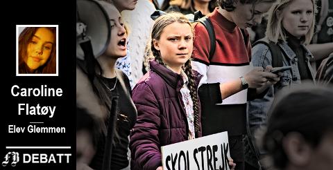 Det koster for Fredrikstad-elever å følge Greta Tunbergs eksempel og streike for klimaet. – Vi engasjerer oss endelig for en sak som er viktig for oss, og for verden videre, hvorfor skal dette møtes med kritikk? spør Caroline Flatøy.