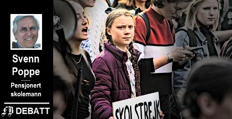 Svenske Greta Thunberg har vært den store inspirasjonen for fredagens skolestreik for miljøet.
