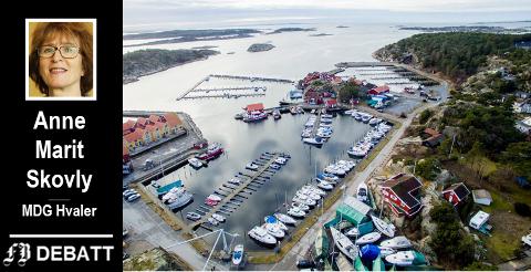 Skjærhalden: Parkeringshallen er tenkt lagt helt ytterst i havneeområdet på Skjærhalden, men med nedkjøring på baksiden av rådhuset.