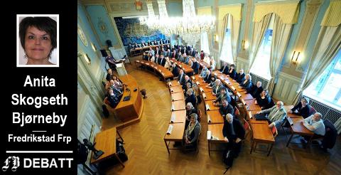 Fredrikstad bystyre: Brevforfatter Anita Skogseth Bjørneby skriver at det var to representanter for Arbeiderpartiet som kom med sterke karakteristikker, og at ordføreren klubbet ned den ene etter protester fra Frp-benken.