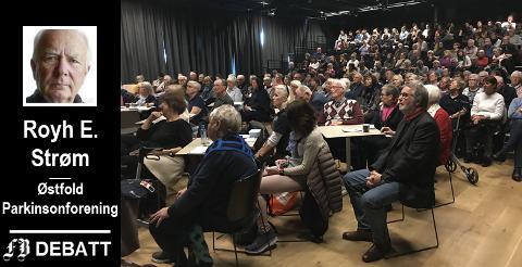 Østfold Parkinsonforening fikk gledelig oppslutning om sitt informasjonssmøte. – Det var nok flere i salen som fikk seg en aha-opplevelse og noe å tenke på, mener Royh E. Strøm.