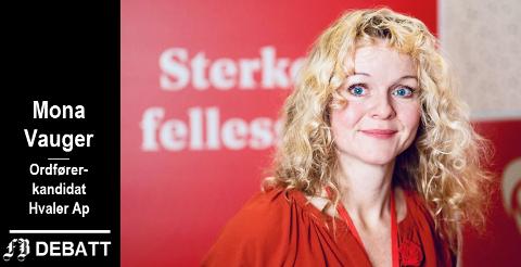 Mona Vauger skriver at Hvaler trenger et rødgrønt styre for fremtiden.