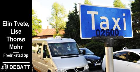 – Beredskapen med seks drosjer som dekker Fredrikstad og Sarpsborg hele døgnet vil forsvinne, frykter Elin Tvete og Lise Thorsø Mohr.