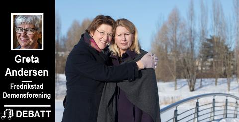 Hildegunn Fredheim og Jannicke Granrud (til høyre) forteller hva Alzheimers sykdom innebærer.  Jannicke sier i intervju i Dagbladet at det beste hun kan håpe å få beskjed om, er at hun ikke har blitt så mye verre. Ennå.