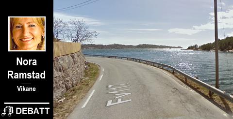 Fv 117, Vikane: – Veien langs sjøen er allerede i dag så trafikkert at det på lange strekk der det ikke er gang- og sykkelvei, er direkte livsfarlig å være myk trafikant.
