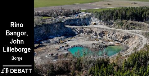 Borge pukkverk vil lagre bergarter som blant annet alunskifer i krateret. De som har protestert mot dette  takker politikere som har støttet dem under veis, og til slutt hele formannskapet som i siste møte snudde i saken.