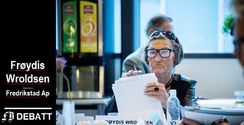 –  Alderdom er så mye mer enn en sykehjemsplass. Fredrikstad skal være en by hvor det er godt å bli gammel, skriver Frøydis Wroldsen.