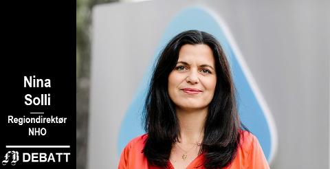 Nina Solli, regiondirektør NHO  Viken Oslo: – Alternativet tilnye bompengeprosjekter vil først og fremst være mindre veibygging, mer kø og dårligere fremkommelighet..