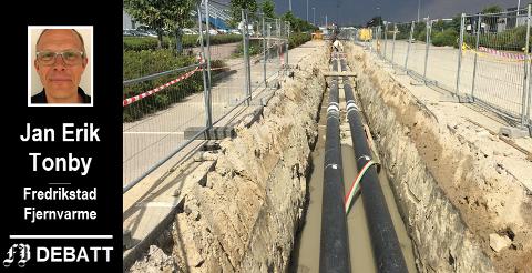 Fjernevarmenett ble etablert i Dikeveien i 2018. – Utbyggingen gjør at det blir mindre behov for å bygge ut strømnettet, skriver Tonby.
