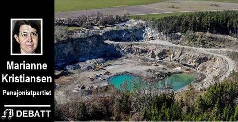 – Ødegård AS ønsker å slippe det rensede vannet ut på kommunalt nett, skriver Marianne Kristiansen, og mener det inneholde radioaktive stoffer som på ingen måte er å leke med.