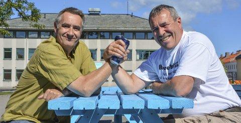 Måler krefter: Dag Kjeldsberg og Halvard Eik møter hverandre til dyst. Hvem av dem er den beste ølsmakeren? Svaret får vi på Horten Mat & Ølfestival.