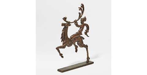 Slik ble statuetten som nå er solgt presentert på auksjonshuset