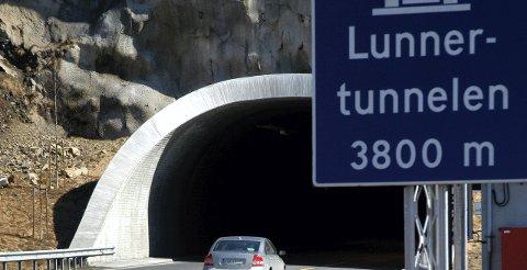 Lunnertunnelen: Skal sjekkes for skader, og blir nattestengt i uke 45