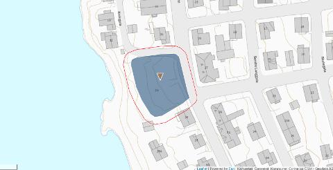 KRISTIAN IV`S GATE: Oversikt over fredet område.