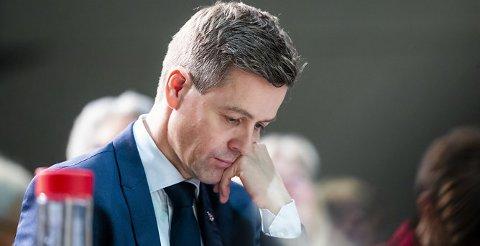 TAPTE: Partileder Knut Arild Hareide tapte avstemmingen under KrFs ekstraordinære landsmøte på Gardermoen fredag.  Foto: Håkon Mosvold Larsen / NTB scanpix