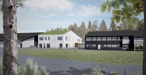 SLIK BLIR DET: Skisse av nybygget til Vetland skole og ressurssenter for hørselshemmede. ILLUSTRASJON: Kontur Arkitekter AS