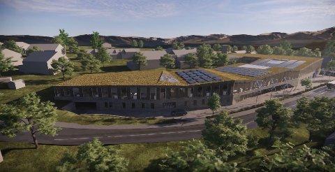 SLIK: Dette er tegningene av det kommende store bygget i Norrønaa-feltet.