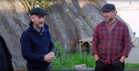 SMÅIRRITERT: Geir Magne Haukås (til venstre) har begynt å få et litt anstrengt forhold til Halvor Sveen.