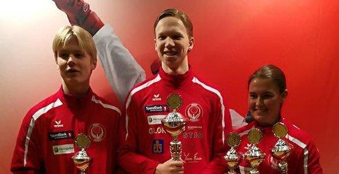 Marius Westgaard, Nikolai Kråkstad og Kerstin Michalsen tok alle med seg medaljer hjem fra Danmark.