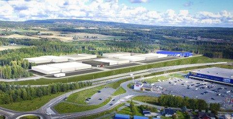 MØBLER OG INTERIØR: I Ikea handelspark er flere møbel- og interiørbutikker på veg inn.