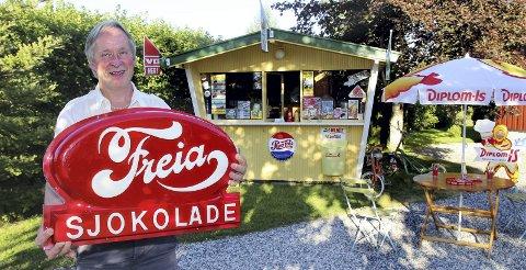 KIOSKVERT PÅ DELTID: – Planen var et drivhus, men det er mer spesielt med en kiosk, sier Rune Gullikstad.Foto: Per Stokkebryn