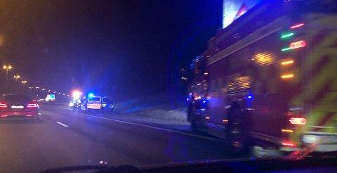 TRAFIKK-TRØBBEL: Etter denne ulykken på E6 ble det lange køer på hovedåra gjennom Romerike. Foto: Tonia Kvernmo