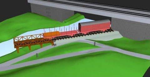 PLANER: Slik ser foreningen for seg hvordan sidebanen skal utstilles. Illustrasjonen er hentet fra Sagelvas Venners hjemmeside.