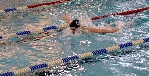 STERK INNSATS: Aleksandra Liverød på 100m Butterfly