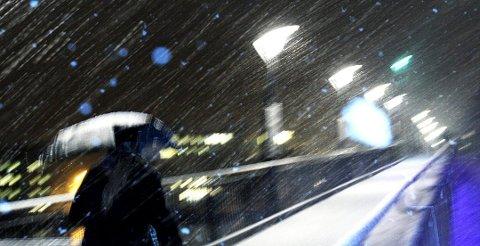 VEKSLENDE VÆR: Det blir varierende vær over hele Vestfold i romjulen, med både snø, regn og sludd.