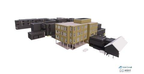 Tilbygg: Det nye tilbygget til Valdres lokalmedisinske senter blir på hele 2119 kvadratmeter. Totalkostnaden er anslått til 83 millioner kroner. Bygget blir på fire etasjer, om en tar med parkeringskjelleren. På toppen er det tekniske rom.