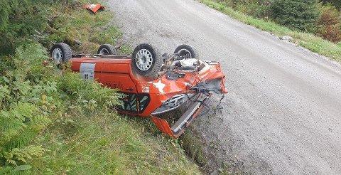 MIRAKULØST: Slik så rallybilen til Mats Peder Hvambsahl ut for 14 dager siden.
