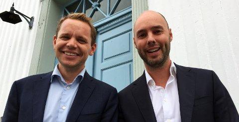 FREMTIDEN ER LYS: Odd-Anders Wilhelmsen (t.v.) og Glenn Braaten har god tro på fremtiden: - I et langsiktig perspektiv har eiendomsprisene alltid økt.