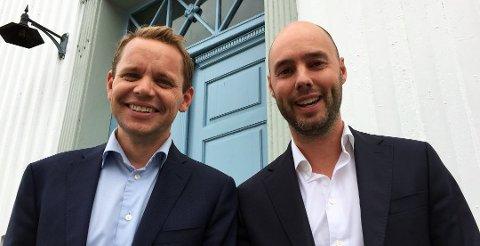 KVITTER SEG MED EIENDOM: Odd-Anders Wilhelmsen (til venstre) og Glenn Braaten i B&W Eiendom AS selger unna en del av eiendommene sine, etter å bare ha kjøpt i 3-4 år.