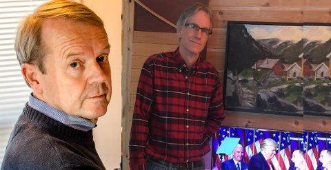 HÅPER VALGET ER AVGJORT: Ås-amerikanere Svein Arne Sirnes og Mike Moulton.