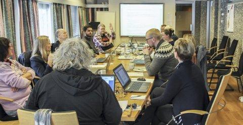 Saken Til kommunestyret: Steinar Husby (lengst bak) fikk flertall for sitt forslag.