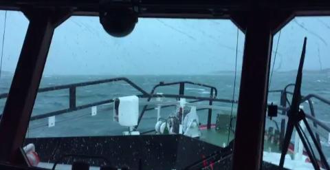Slik ser det ut langs kysten nå. (Bilde: Horn Rescue)