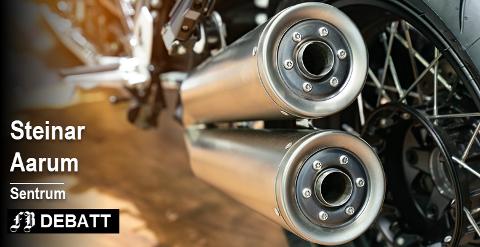 Støyklagen fra Steinar aarum  dreier seg om 16-17-åringer på lette motorsykler (ikke mopeder) og godt voksne folk på merker som Harley eller Ducati.