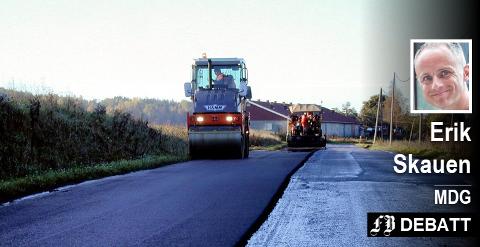 Miljøpartiet De Grønne ønsker mindre satsing på asfalt, men samtidig at eksisterende veier skal vedlikeholdes – i stedet for å bygge nye.