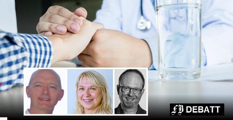 Kronikkforfatterne Ole David Brask (fra venstre), May Østby og Atle Ødegård  tror at økt rollebevissthet kan tydeliggjøre både profesjonene og samarbeidsmuligheter dem imellom.
