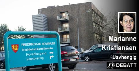 – Når jeg får høre at ca. 50 plasser ved Borge korttidssenter er belagt med eldre pasienter som venter på en langtidsplass, forstår jeg rett og slett ingen ting, skriver Marianne Kristiansen