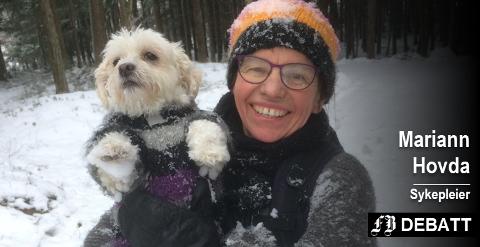 – En hund gir mye glede og mye mosjon, anbefaler brevforfatter Mariann Hovda.
