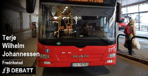 –  Passasjerer tar buss for å komme i tide til sine avtaler, ikke bare ta buss for å ta buss, skriver Johannessen og er misfornøyd med en episode på rute 2 den 25. desember. Arkivfoto: Geir Ola Eggen